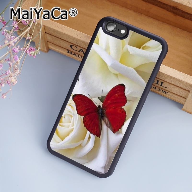 US $4 59 8% OFF|MaiYaCa Spring Dragonfly Animal Print Soft TPU Mobile Phone  Case Funda For iPhone 7 Back Cover Skin Shell-in Fitted Cases from