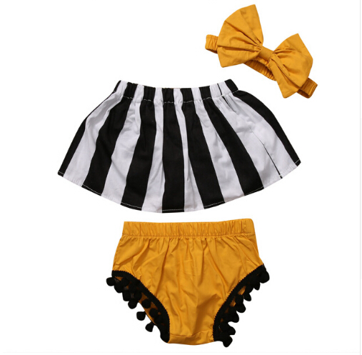 3 pcs!!2017 kids summer baby girls clothes set striped top+tassel shorts+headband striped girl clothing outfit set 4th of july baby girls clothing set summer girls tees ruffle short girls outfit american usa flag baby clothes 2pcs kids clothes