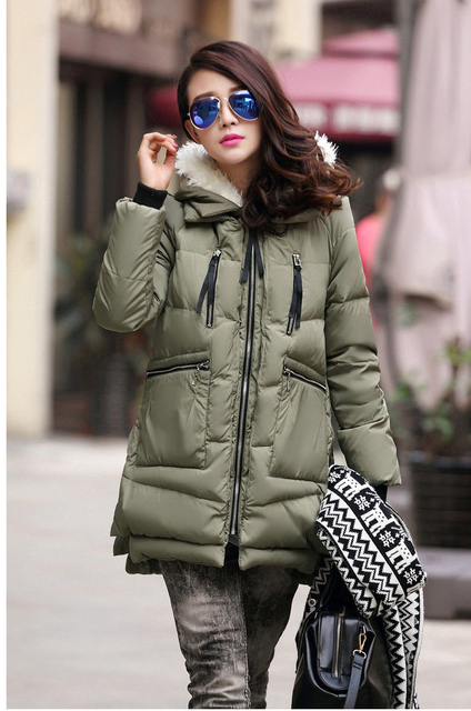 Maternity New winter new military cotton clothing women's large yards loose thickening Outerwear coat jacket pregnant women XL