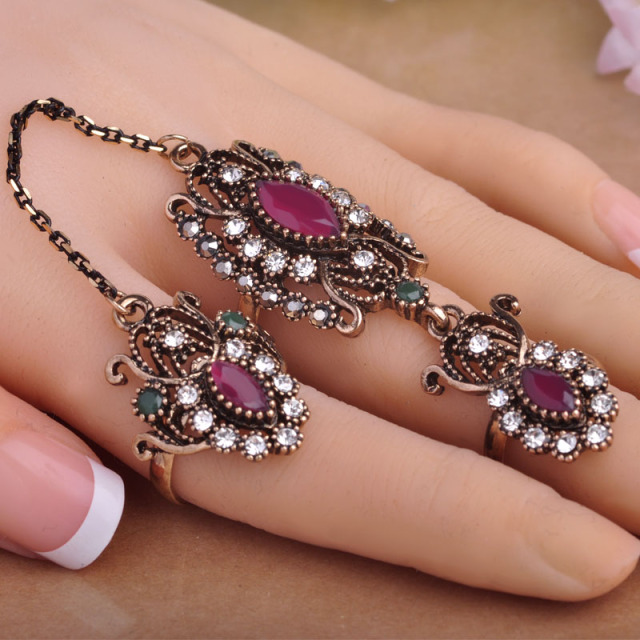 Two Finger Adjustable Rings For Women