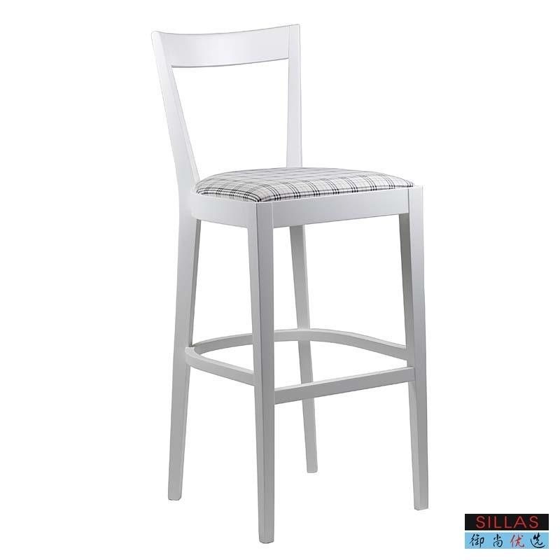 Royal still preferred white wood bar stool bar chair ...