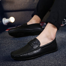 d4e63605a Casual Men Loafers Spring Autumn Mens Moccasins Shoes Leather Drivings  Fashion Casual Leather Mocassin Homme Male Adult Shoes
