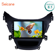 "Seicane Android 8.1 9"" GPS Navigation 2din Car Radio For Hyundai Elantra 2011 2012 2013 With 1080P DVR Steering Wheel Control"