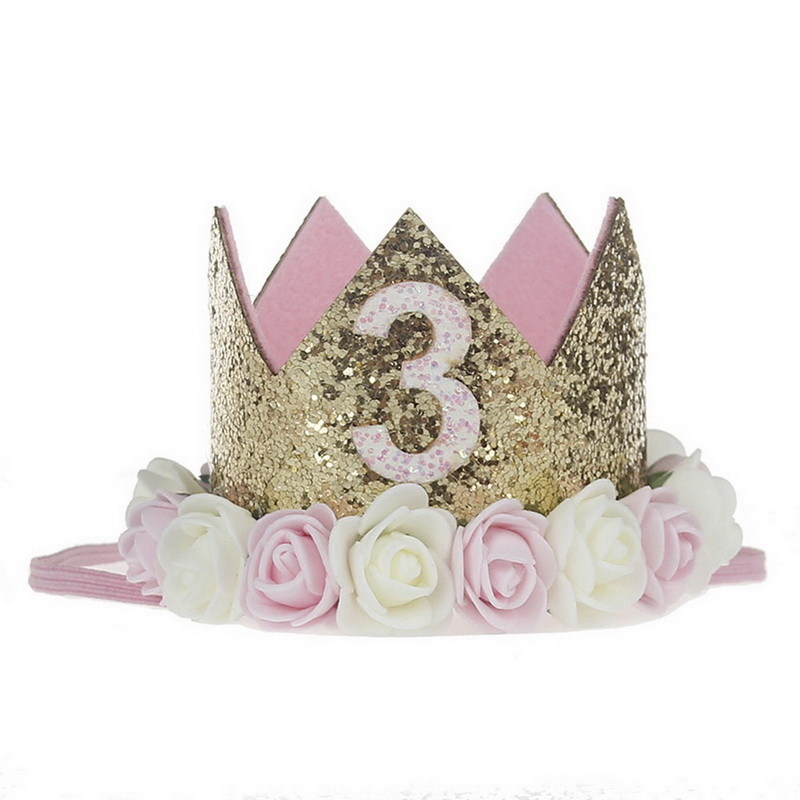 FUNIQUE Crystal Tiara Crown Hair Accessories for Kid Flower Children hair jewelry Silver Color Wedding Decoration Hair Jewelry