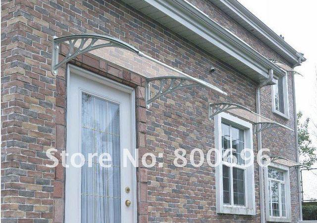 YP80100 80x100 cm 31.5x39in tampa da porta de plástico transparente permanente toldos dossel com resistente ao vento parágrafo jardin