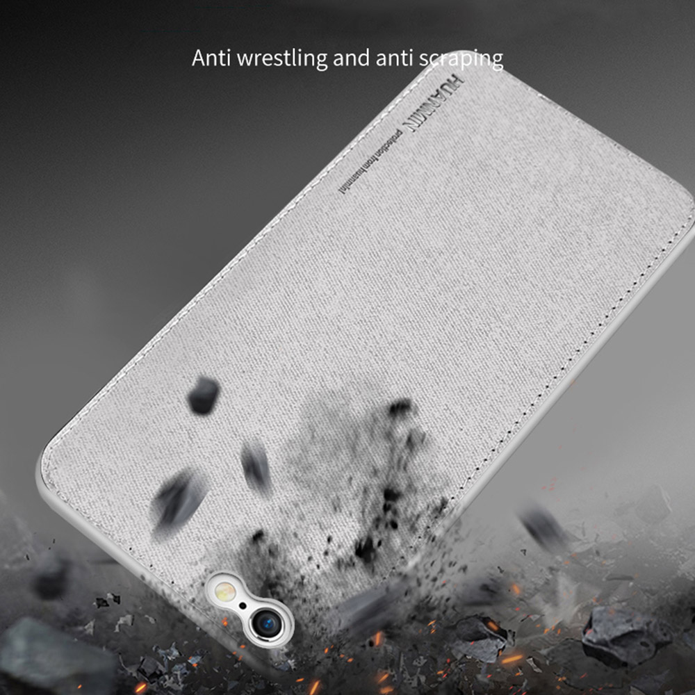 Ultra Thin Canvas Soft Silicon Phone Case For iphone 7 8 6 6s Plus X Cloth Texture Cover Coque Magnetic Car Holder Case in Fitted Cases from Cellphones Telecommunications