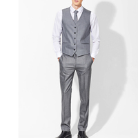Gentleman Wedding Waistcoat and Pants Sets Casual Business Vests Pants Slim Fit Vest Custom Made Mens Groom Suit (Vest+Trousers)