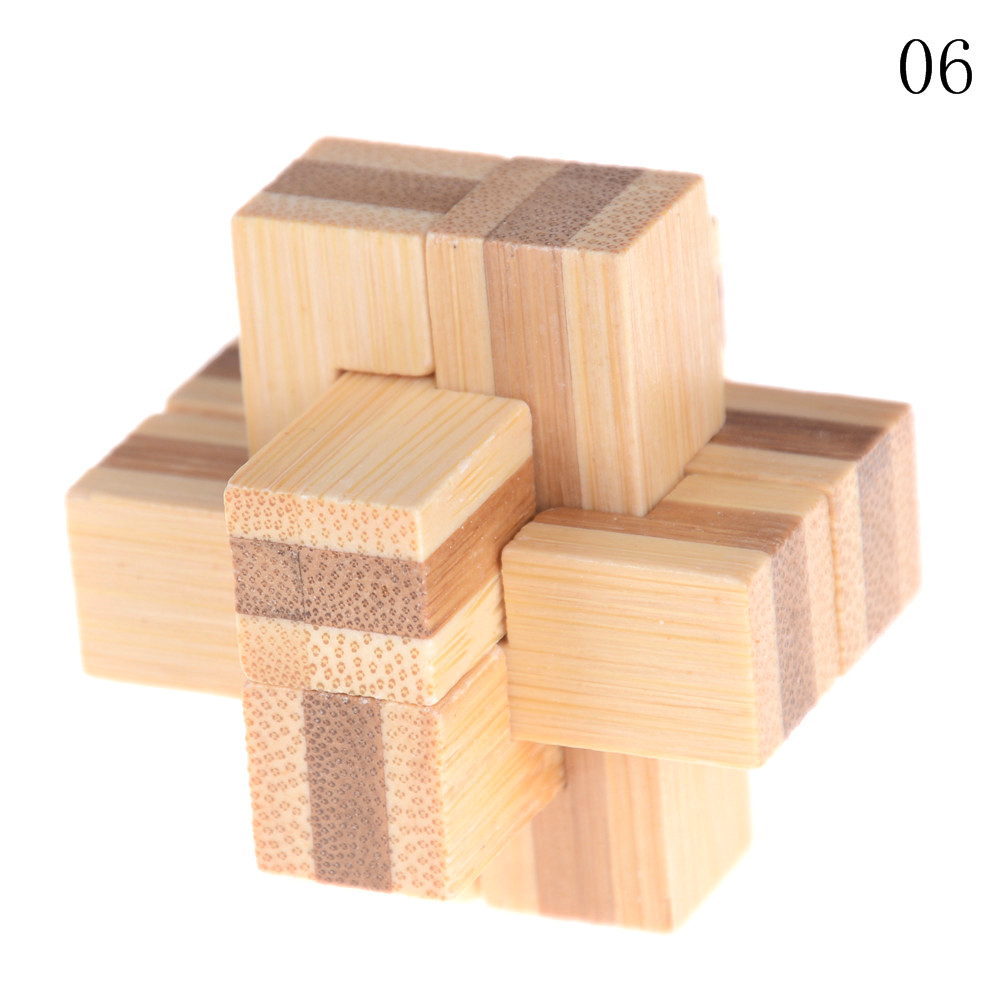 Kong Ming Luban Lock Kids Children 3D Handmade Wooden Toy Adult Intellectual Brain Tease Game Puzzle 12