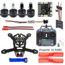 DIY 150 MINI FPV Racing Drone Kit H150 Frame 1306 3100KV CW CCW Motor 12A ESC SP Racing F3 VTX+CAMERA 25mw FS-i6 Remote Control