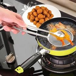 Herramienta de cocina superior Clip de alimentos Tong Acero inoxidable aceite de drenaje colador de alimentos fritos barbacoa ensalada herramienta de buffet cocina freír malla colador