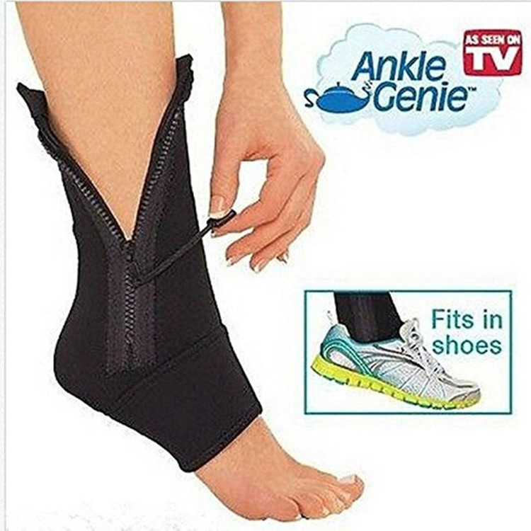 1 Pair  Ankle Genie Movement Of Ankle Zipper Foot Wrist Sports Socks Ankle Support Sleeve Shield Zip Up Compression Support
