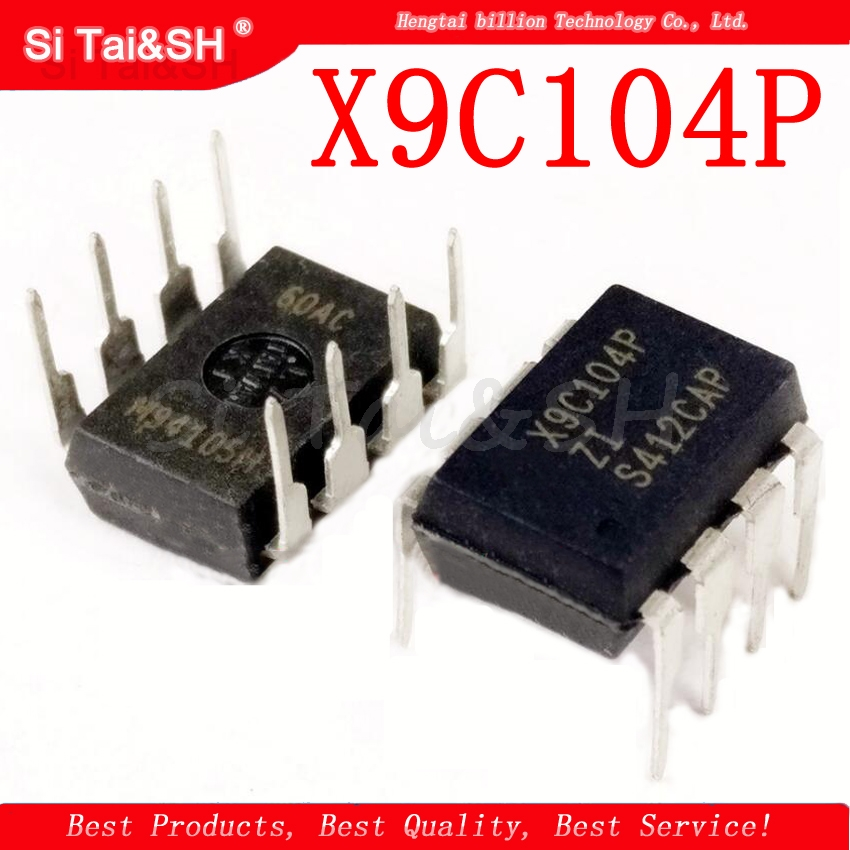 1pcs/lot X9C104P X9C104PIZ X9C104 X9C104PZI DIP8 Digitally Controlled Potentiometer IC