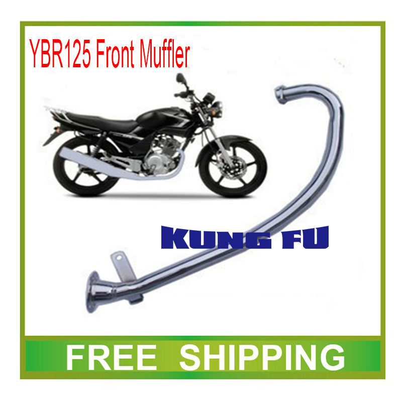 ФОТО jianshe YBR YBR125 muffler exhaust pipe front 125cc motorcycle accessories free shipping