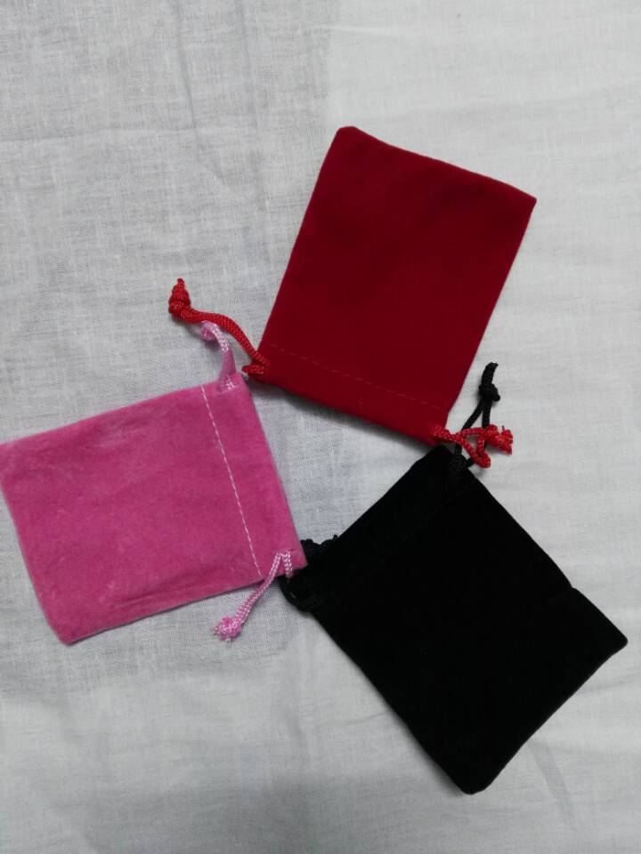 Free Shipping 100pcs/lot Cheap Drawstrng Bag 7*9cm 3 Colors For Choose  Velvet Fabric Jewelry Bag Wholesale Coutom Perfume Pouch