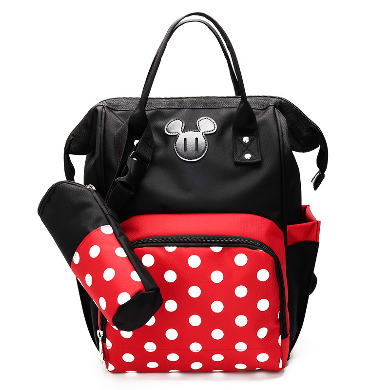 2019 New Mummy Fashion backpack cartoon mouse Care Large Capacity Nursing bag Cute Mickey Designer Travel Diaper Rucks Minnie