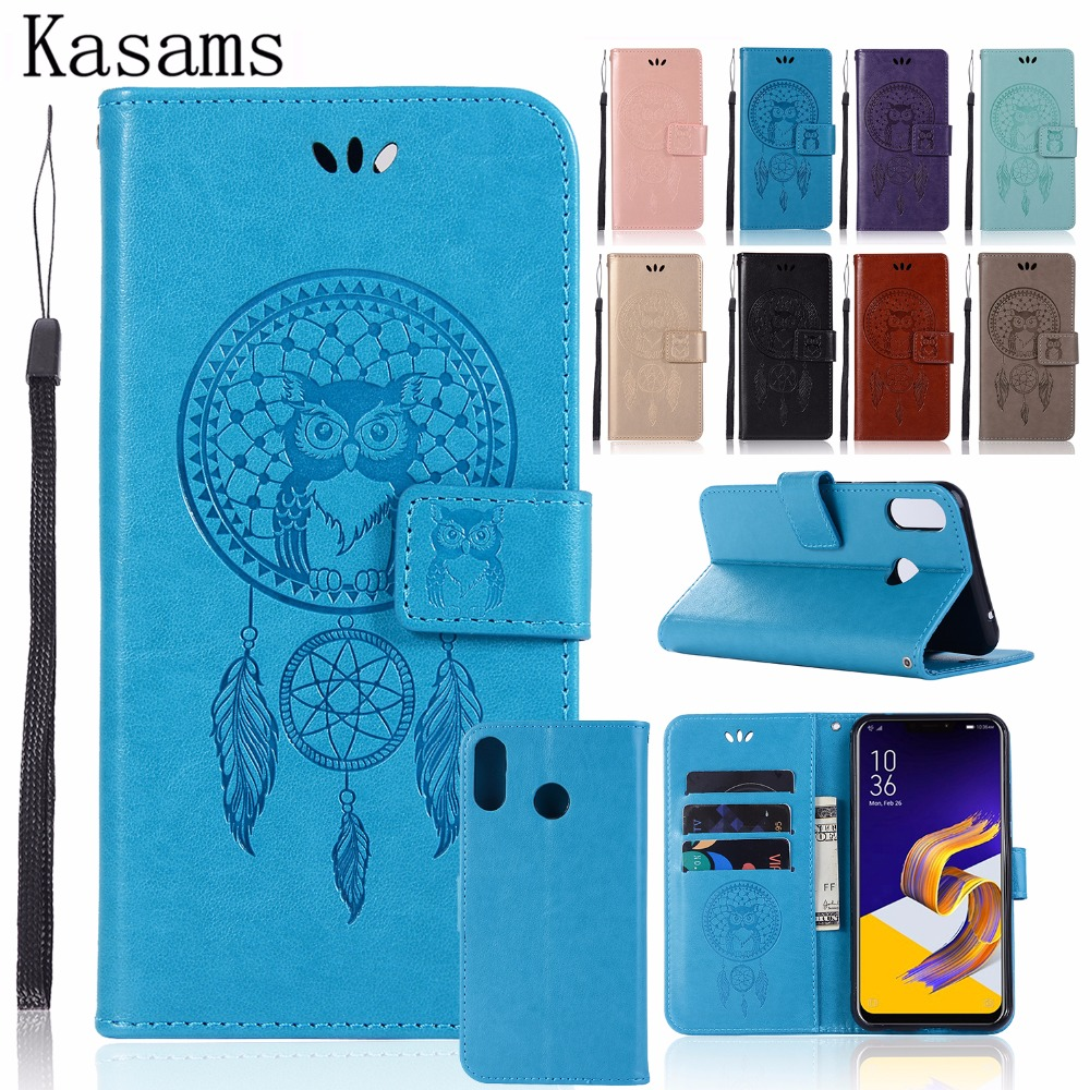For Asus Zenfone Max (M1) ZB555KL / Max ZC550KL Phone case PU Leather 3D Owl For Asus Zenfone Max Plus M1 ZB570TL Flip Cover