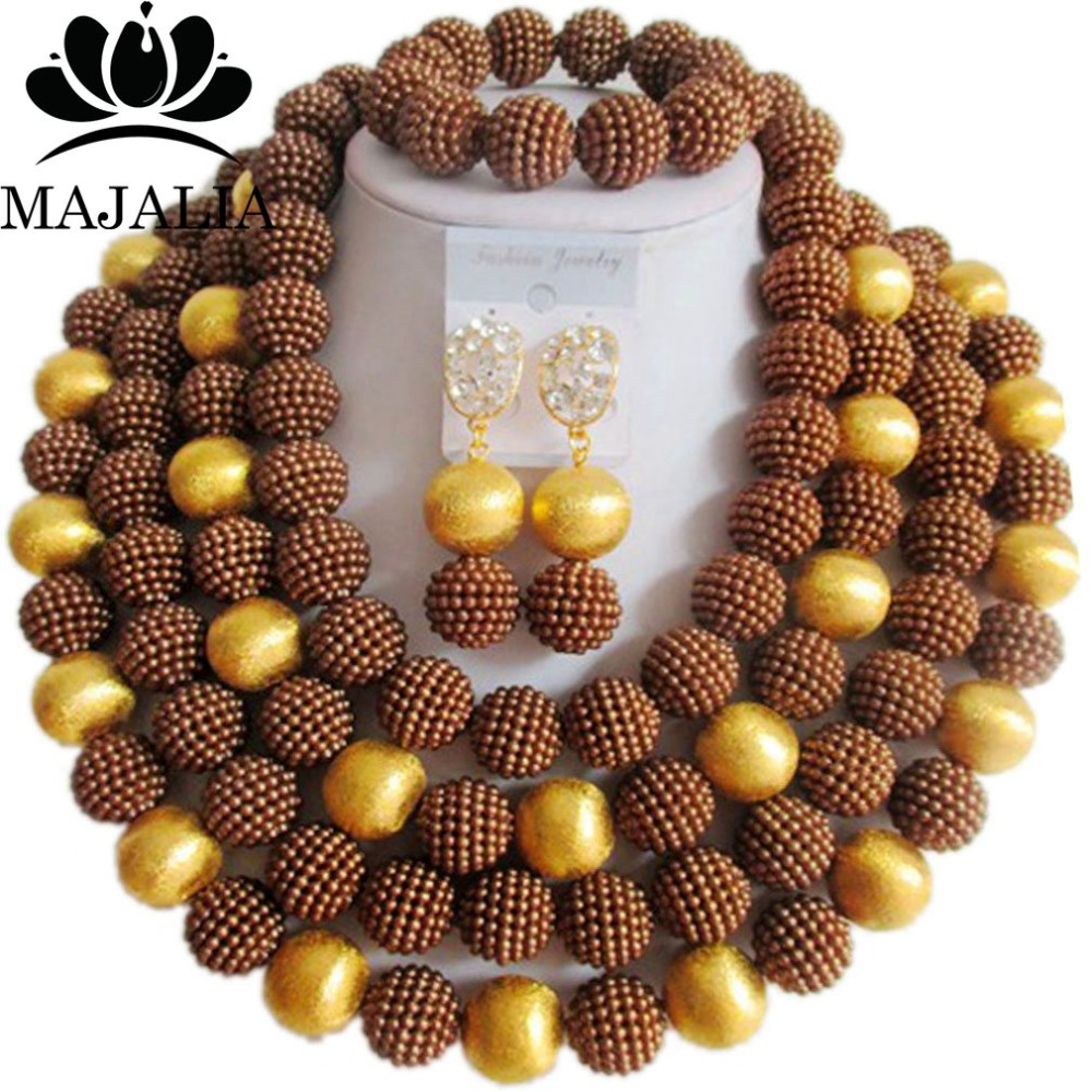 Fashion african jewelry Brown Blue Plastic nigerian wedding african beads jewelry set Free shipping Majalia-469Fashion african jewelry Brown Blue Plastic nigerian wedding african beads jewelry set Free shipping Majalia-469