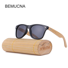 Новинка 2017 года bemucna Bamboo Солнцезащитные очки для женщин Для мужчин деревянный Очки Для женщин Бренд дерева Защита от солнца Очки Для женщин/Для мужчин Óculos De Sol masculin с коробка