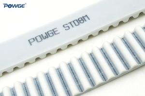 Image 2 - POWGE PU White STS/STD S8M Open Timing belt S8M 40mm Width 20/25/30/40/50mm Polyurethane steel  40STD8M Synchronous Belt pulley