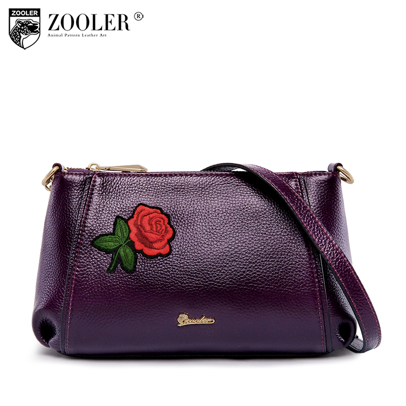 ZOOLER genuine leather bag Bags handbags women famous brand shoulder bag for lady printing flower bolsa feminina #T505 sales zooler brand genuine leather bag shoulder bags handbag luxury top women bag trapeze 2018 new bolsa feminina b115