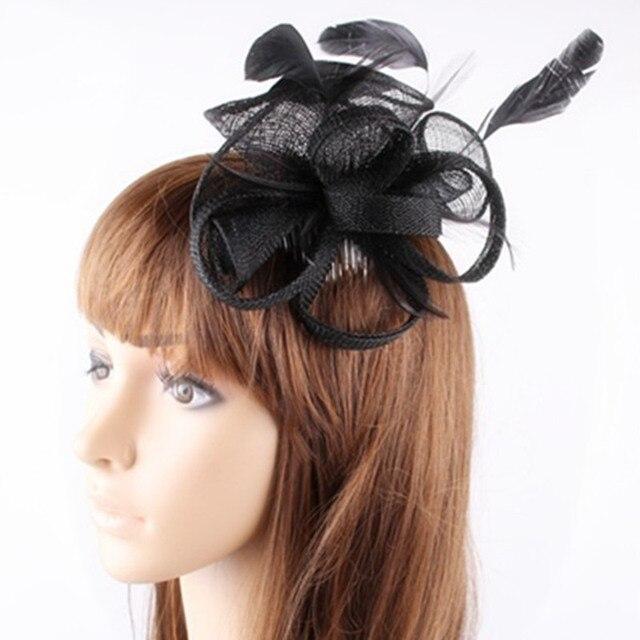 Multiples couleurs Élégant sinamay fascinators pour femmes de mariage  accessoires de cheveux de nice chapeaux de