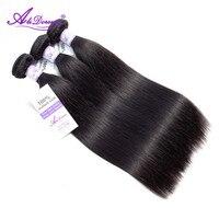 Alidoremi бразильские волосы remy прямые волосы пучки 8 30 дюймов 100% человеческие волосы переплетения волос Бесплатная доставка натуральный черны