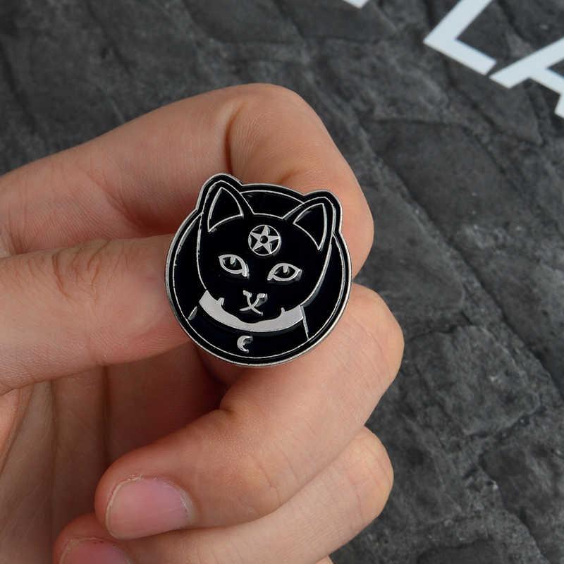 Sihir Lembut Enamel Bros Tarot Magic Ball Pesan Pin Denim Pakaian Tas Gesper Lencana Punk Perhiasan Hadiah untuk Teman-teman