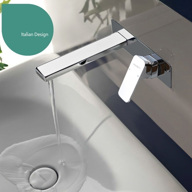 Solid Br Chrome Bathroom Sink Vessel Faucet Basin Mixer Tap Square Water