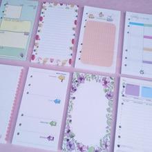A7 40 листов/лот милый каваи ежедневный Еженедельный ежемесячный планировщик работы Книга Дневник программа для детей школьные принадлежности