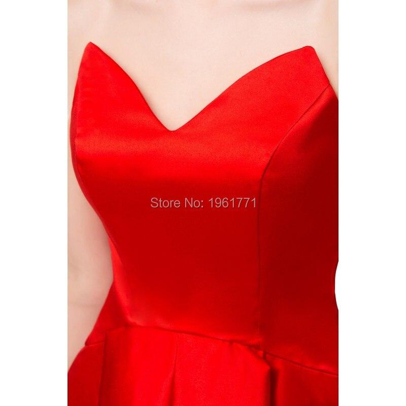 Haut bas robe de bal Sexy rouge chérie Corset dos court avant Long dos Satin femmes soirée formelle Occasion spéciale robes - 5