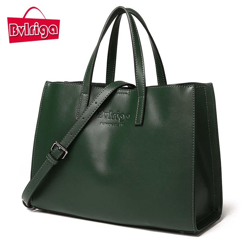 BVLRIGA Luxury Designer Lady Genuine Leather Bags Female Summer Women Handbags Crossbody Black Messenger Shoulder Tote Bag 2017