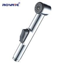 ROVATE Туалет Биде Опрыскиватель регулируемый поток воды душ хромированный ручной спрей с крышкой настенный вагинальный душ
