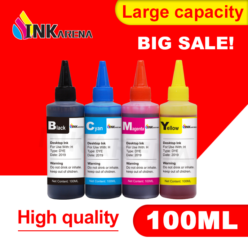 INKARENA Refilled ink Replacement for hp 122 122XL Deskjet 1050A 2050 2050A 3000 3050 3050A 1510 Printing 400ML Dye Refill kit