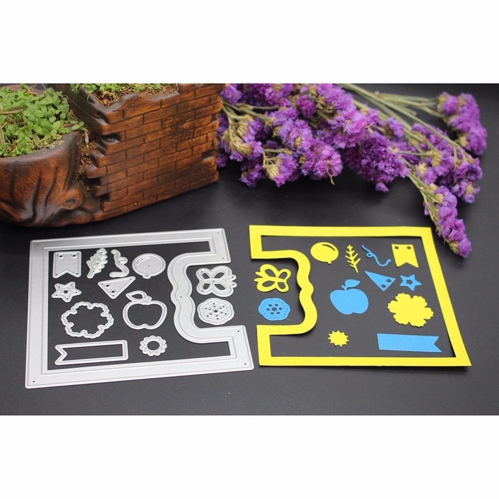 Baru bingkai kartu ucapan scrapbook craft scrapbooking die dies 3d stamp diy membuat foto perlengkapan dekorasi