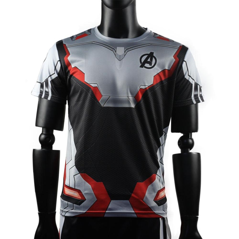 3D Avengers Endgame Realm Cosplay T-shirt Iron Man Captain Marvel Captain America Black Widow Costume Sport Tight Tees Dropship33