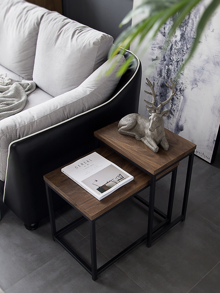 Nordic design creative personality mini coffee table simple modern Nordic wrought iron side corner combination table set in Coffee Tables from Furniture