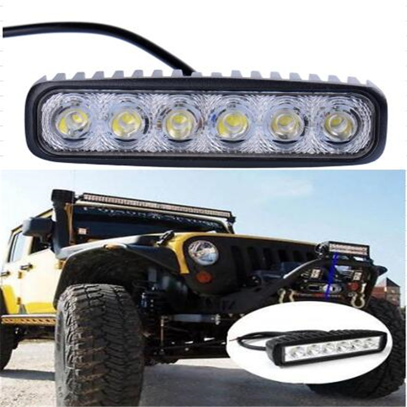 LSJ Car-Styling Store 1pcs 18W LED Work Light Motorcycle Fog Lamp Driving Light Bar For 4x4 Offroad SUV Car Truck Trailer Tractor ATV Motorcycle light