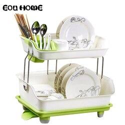 Multifuncional plato escurridor estantes soportes de utensilios de cocina platos palillos organizador de almacenamiento plato estante cocina Accesorios