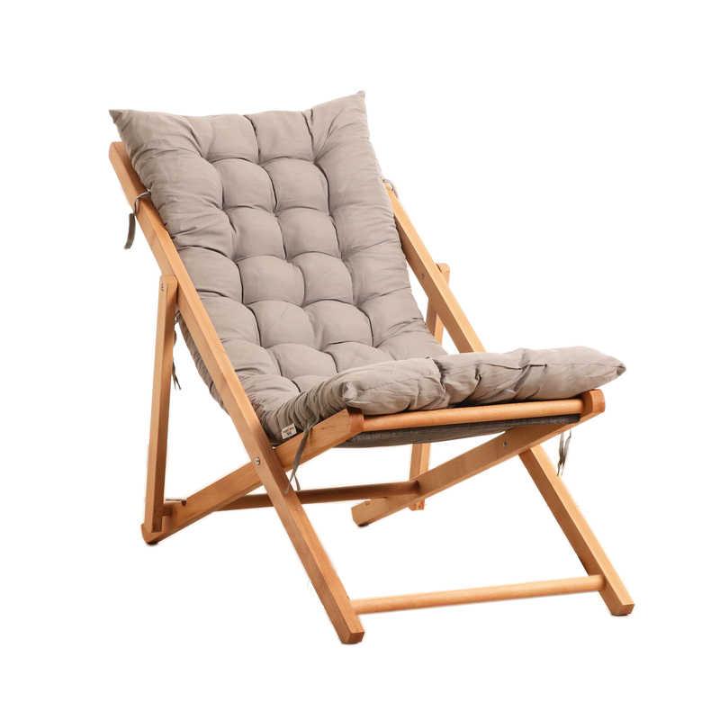 Folding Solid Wood Chair Balcony Lazy