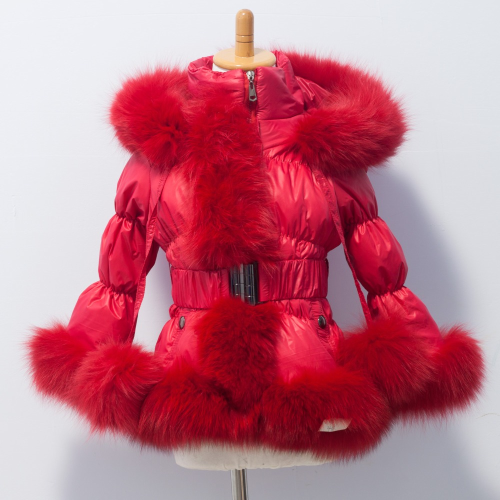 new style winter child  down coat / popular down wear with fox fur - Women's Clothing