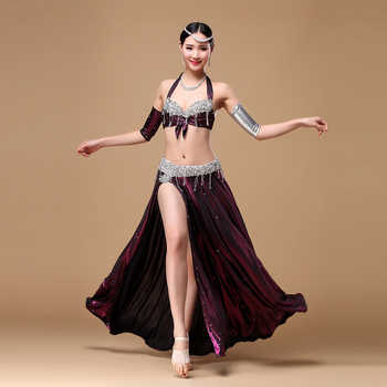 Stage & Dance Wear 2018 Women Belly Dance Outfit 2-piece Set (Bra & Skirt) Belly Dance Costume Set Professional