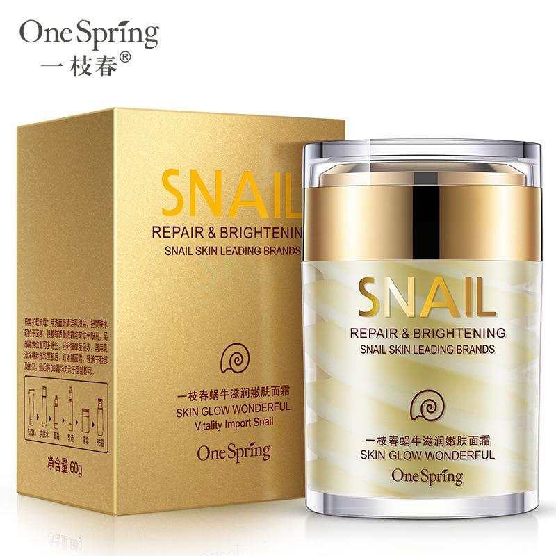 One Spring Natural Snail Moisturizer Facial Cream Hydrating Whitening Skin Anti Aging Anti Wrinkles Shrink Pores women Skin Care