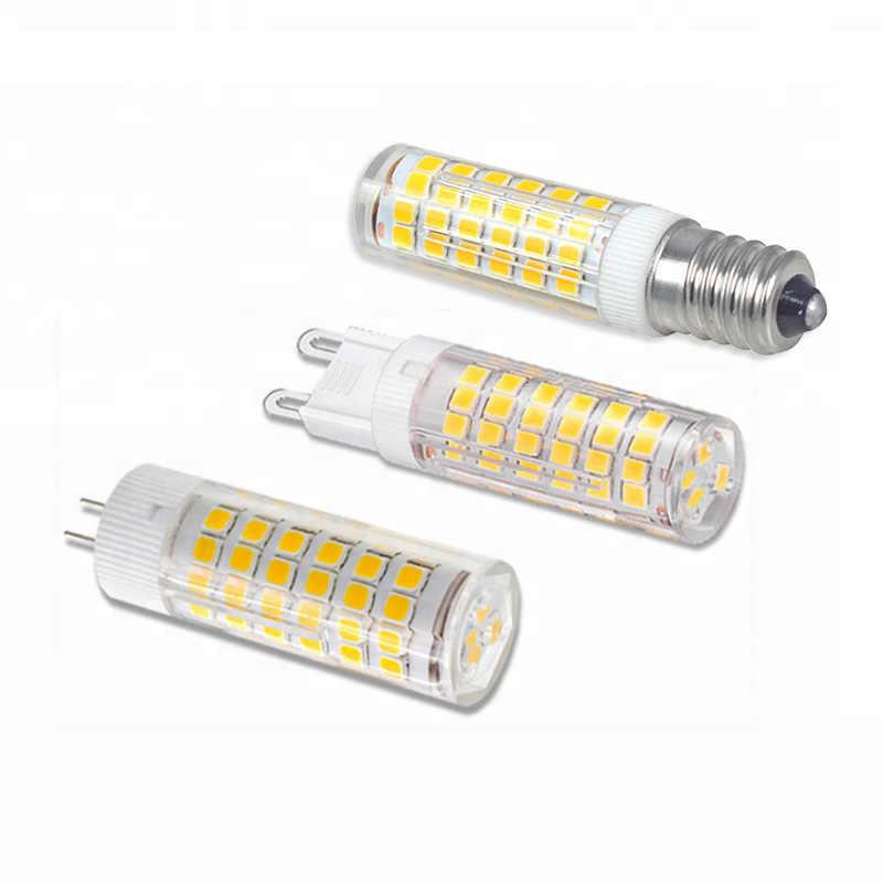 E14 Led מנורת קרמיקה G4 G9 LED הנורה 220 V 5 W 7 W 9 W 12 W 15 W 2835 SMD ניתן לעמעום LED הנורה אור 360 תואר זווית Led זרקור מנורה