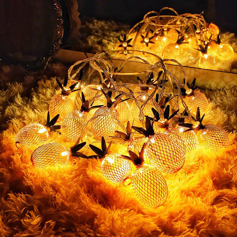 New Arrival Fairy Led Retro Pipeapple String Lights 1.5M 3M LED Novelty Holiday Bedroom Wedding Party Romantic Warm Light Decor (15)