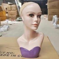 Top qualidade das Mulheres Chapéu Da Cabeça Do Mannequin Exibição formação Peruca modelo de cabeça cabeça de modelo de cabeça cabeça de modelo de cabeça femal