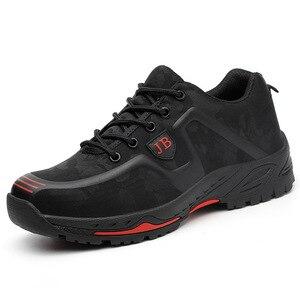 Image 4 - Dropshipping homens e mulheres botas de segurança ao ar livre sapatos masculinos de moda smash proof puncture proof trabalhadores tênis