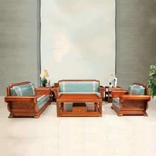 Ежик палисандр гостиной диван набор мебель из красного дерева кофейный столик кресло 6 шт набор китайская мебель