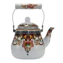 2.7L  Enamel Pot Traditional Chinese Bell shaped pot Thickened Water Kettle Electromagnetic Furnace Gas