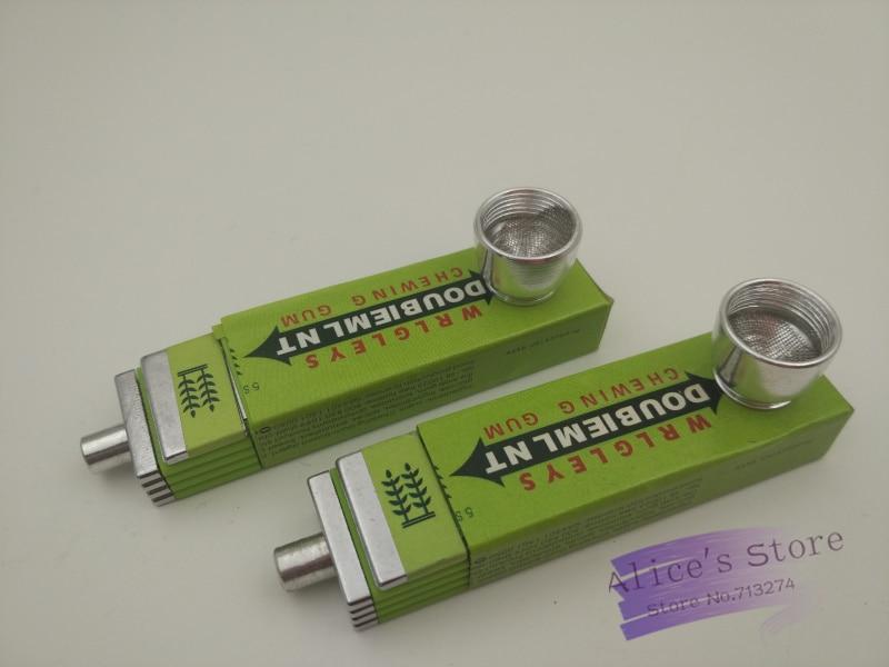 Veleprodaja 5pcs / lot Zelene žvakaće gume Shape Weed Metal cijevi - Kućanski robe