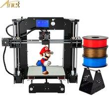 Высокое качество Анет A6 A8/автоматическое выравнивание A8 DIY самостоятельно собрать 3D принтер машина i3 3D-принтеры комплект с бесплатным 1rolls 1 кг нити